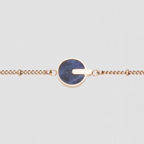 Opacity Bracelet (Blue Marble/Rose Gold)