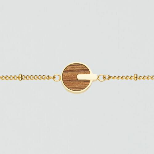 Opacity Bracelet (Marblewood/Gold)
