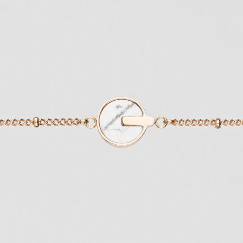 Opacity Bracelet (White Marble/Rose Gold)