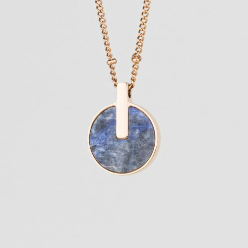 Opacity Necklace (Blue Marble/Rose Gold)