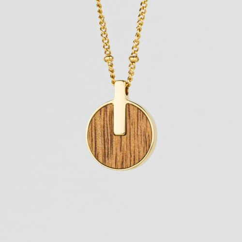 Opacity Necklace (Marblewood/Gold)