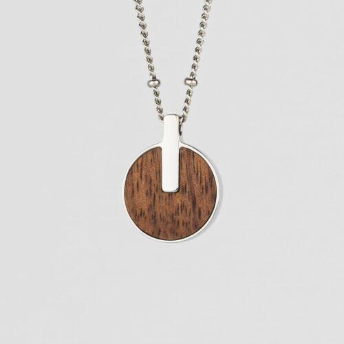Opacity Necklace (Walnut/Silver)