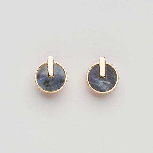 Opacity Earrings (Blue Marble/Rose Gold)