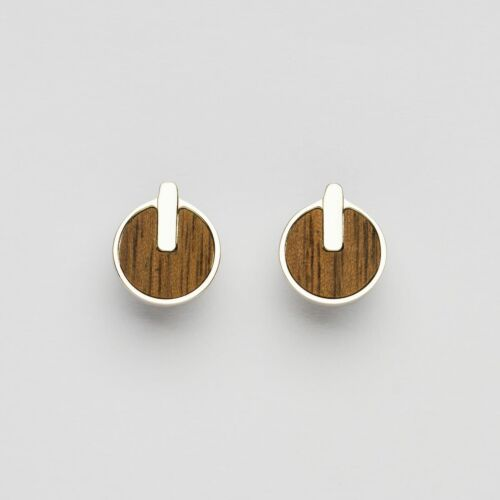 Opacity Earrings (Walnut/Silver)