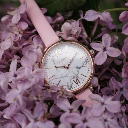 Alva (Marble/Rose Gold)