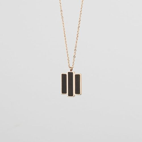 Collage Necklace (Leadwood/Rose Gold)