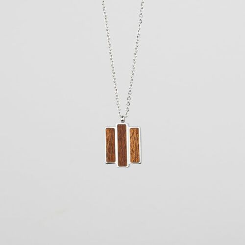 Collage Necklace (Mahogany/Silver)