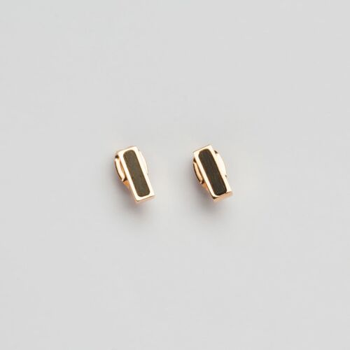 Collage Earrings (Leadwood/Rose Gold)