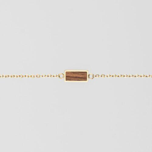 Abstract Bracelet (Walnut/Gold)