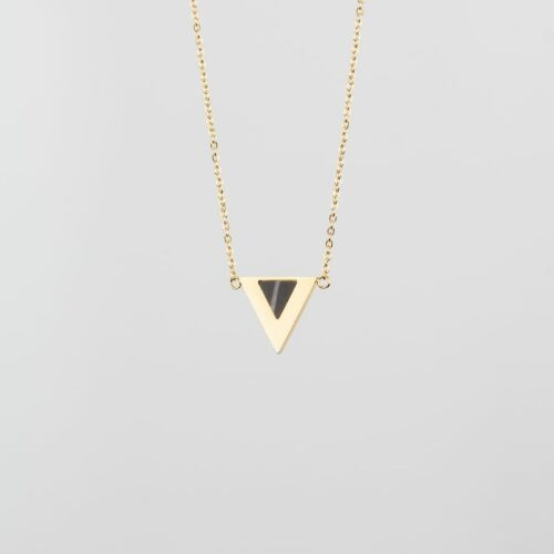 Scale Necklace (Marble/Gold)