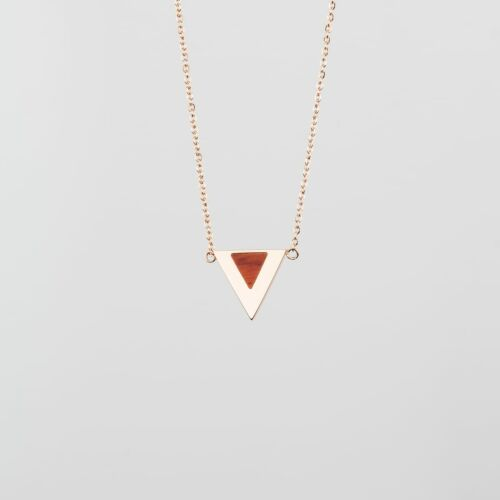 Scale Necklace (Padauk/Rose Gold)