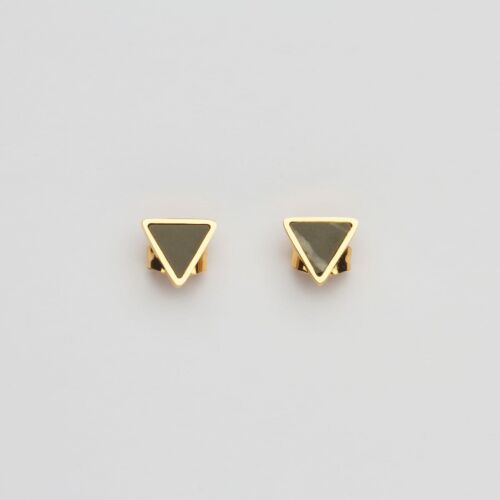 Scale Earrings (Marble/Gold)