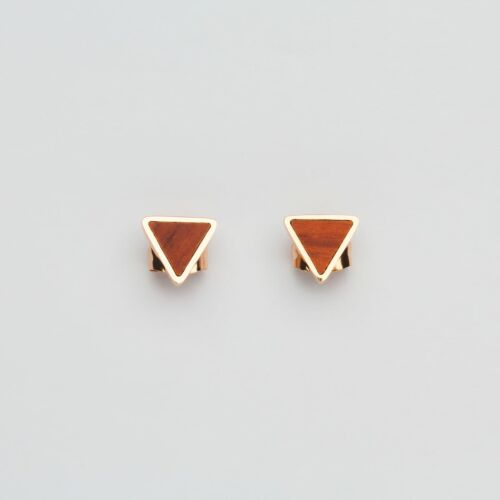Scale Earrings (Padauk/Rose Gold)