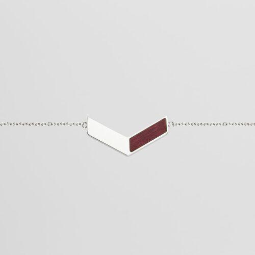 Elevation Bracelet (Amaranth/Silver)