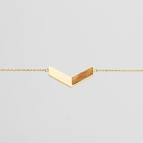 Elevation Bracelet (Zebrawood/Gold)