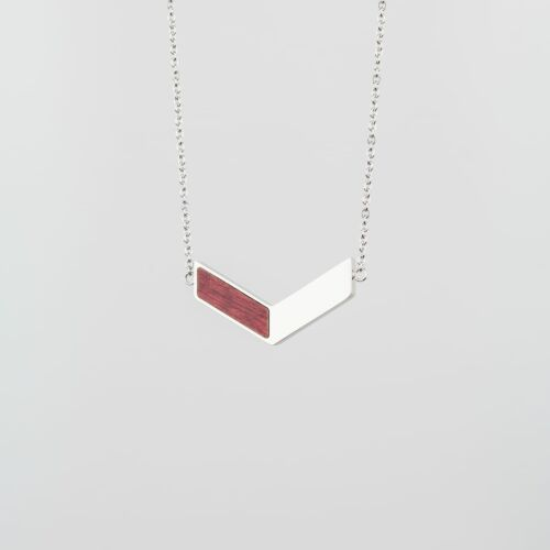 Elevation Necklace (Amaranth/Silver)