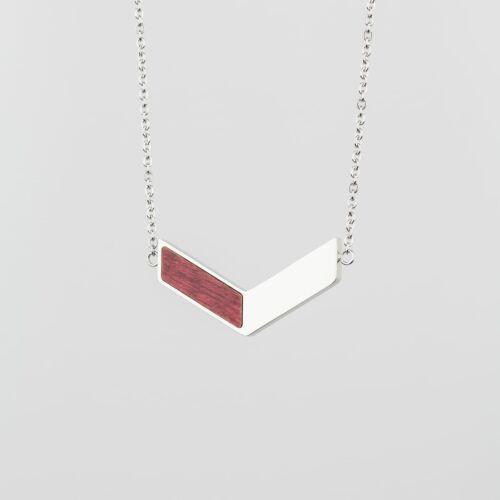 Elevation Necklace (Amaranth/Silver)