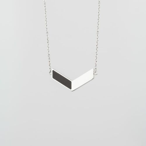 Elevation Necklace (Slate/Silver)
