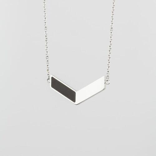 Elevation Necklace (Slate/Silver)