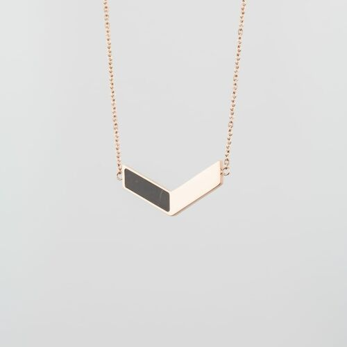 Elevation Necklace (Marble/Rose Gold)