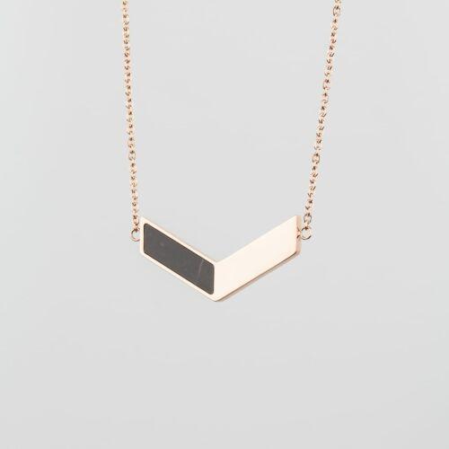 Elevation Necklace (Marble/Rose Gold)