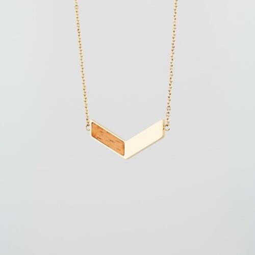 Elevation Necklace (Zebrawood/Gold)