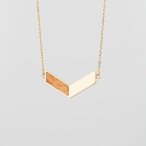 Elevation Necklace (Zebrawood/Gold)