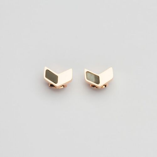 Elevation Earrings (Marble/Rose Gold)