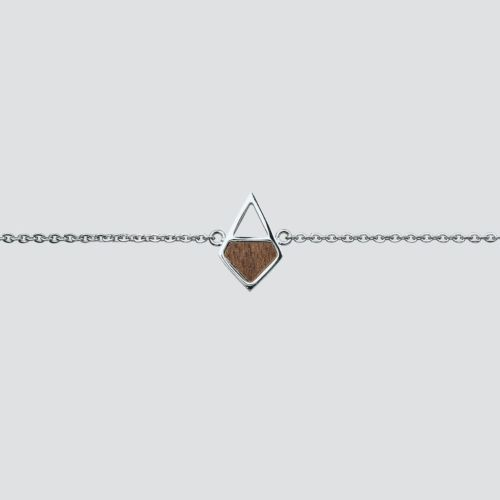 Mandala Bracelet (Walnut/Silver)