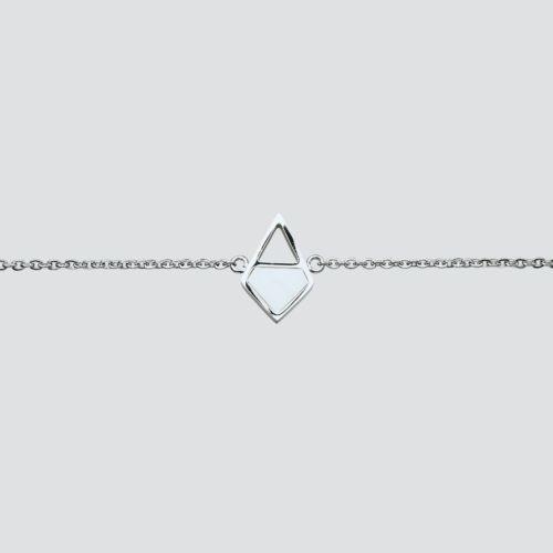 Mandala Bracelet (Marble/Silver)