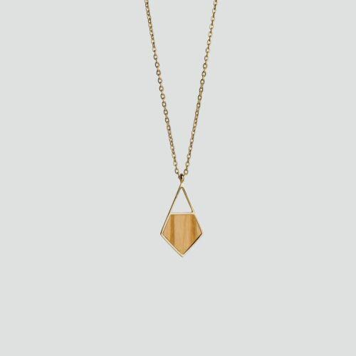 Mandala Necklace (Olive/Gold)