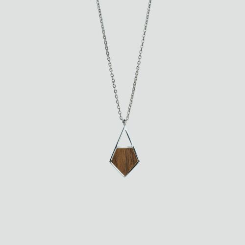 Mandala Necklace (Walnut/Silver)
