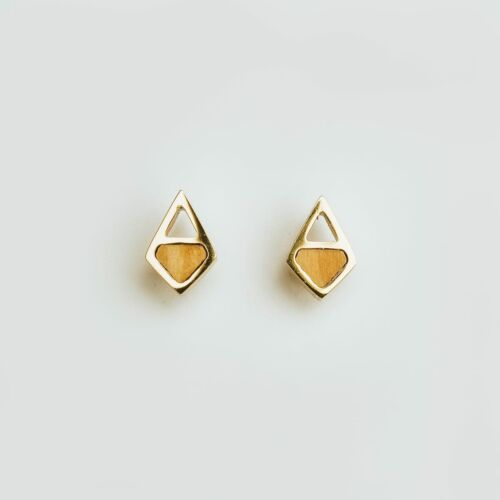 Mandala Earrings (Olive/Gold)