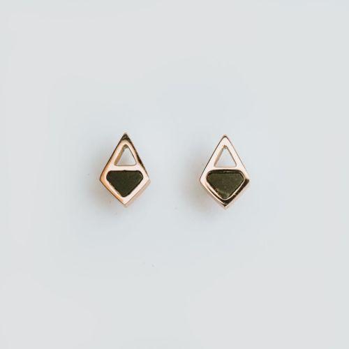 Mandala Earrings (Marble/Rose Gold)