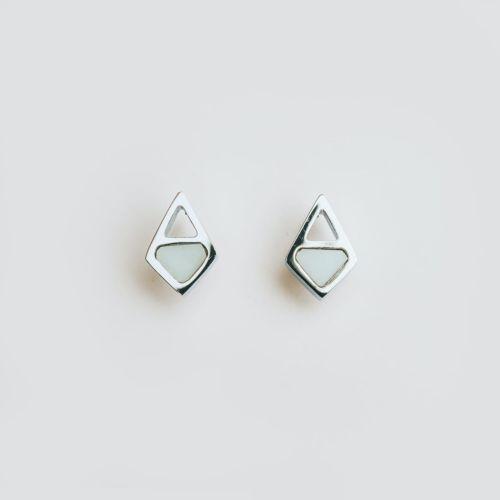 Mandala Earrings (Marble/Silver)