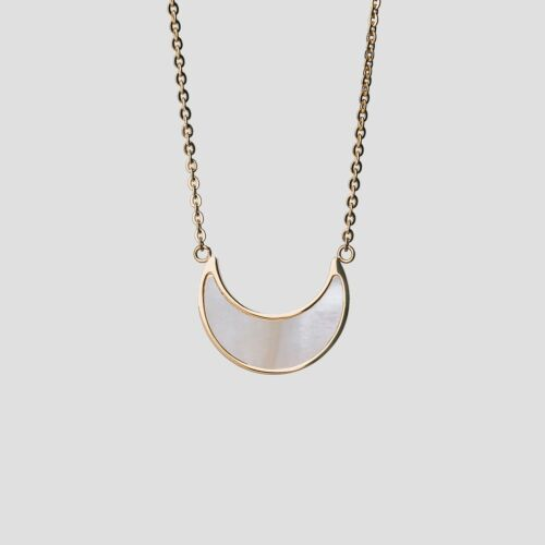 Hue Necklace (White Nacre/Gold)
