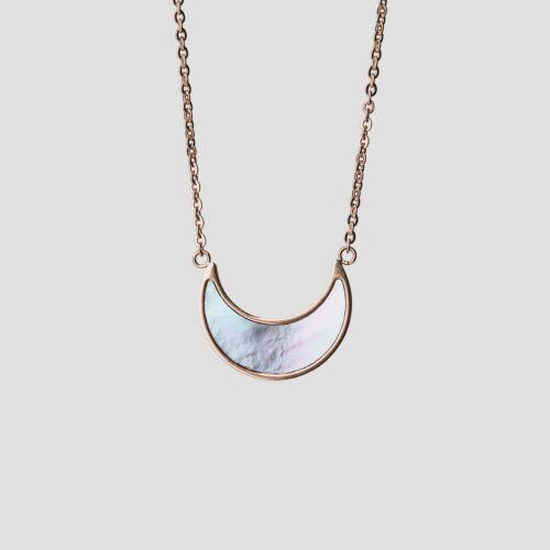 Hue Necklace (Blue Nacre/Rose Gold)