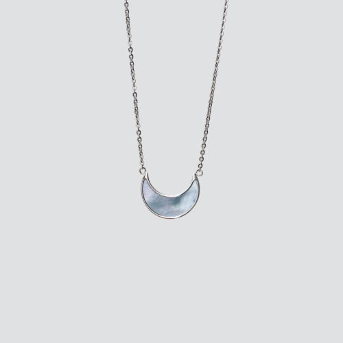 Hue Necklace (Blue Nacre/Silver)