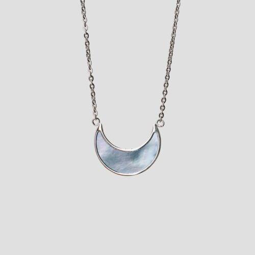 Hue Necklace (Blue Nacre/Silver)