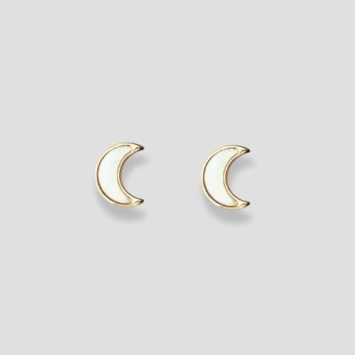 Hue Earrings (White Nacre/Gold)