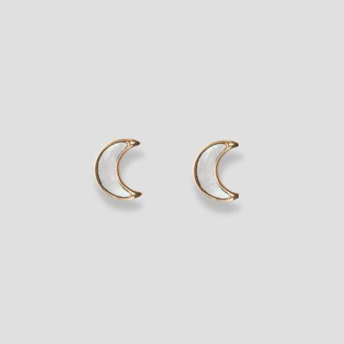 Hue Earrings (White Nacre/Rose Gold)