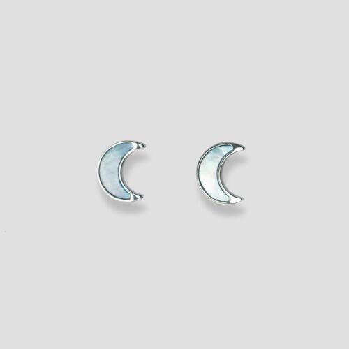 Hue Earrings (Blue Nacre/Silver)