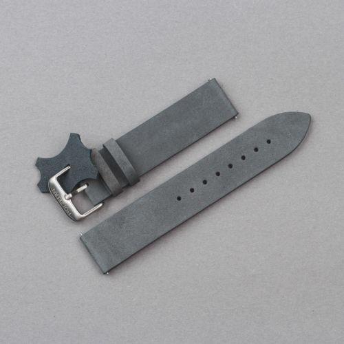 Strap Alex 20mm (Gray-blue/Silver)