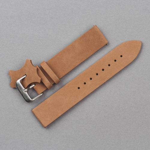 Leather Strap 20mm (Beige/Silver)