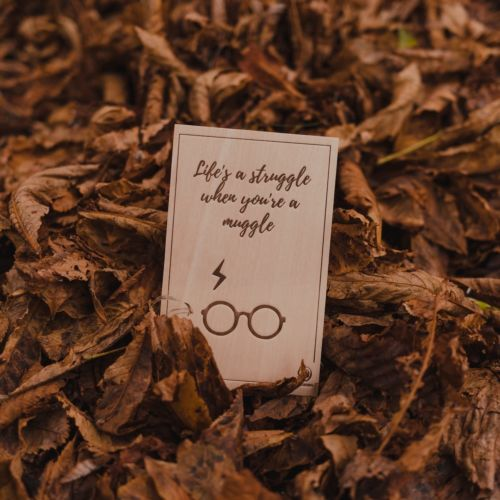 Wooden postcard Struggle Muggle