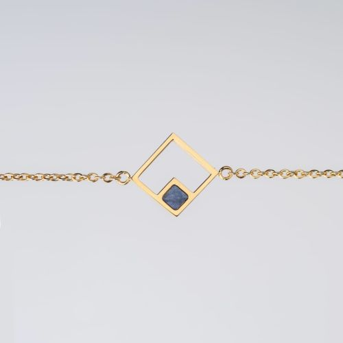 Geometric Bracelet (Marble/Gold)