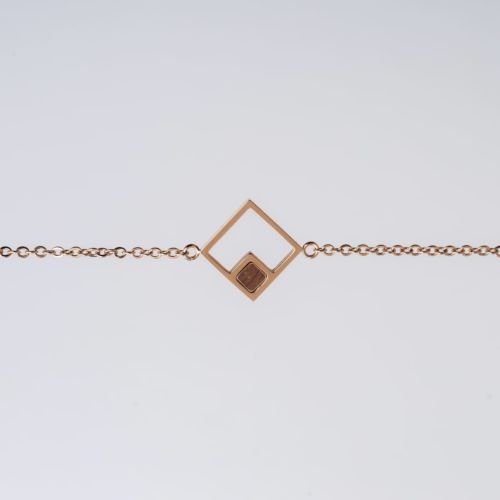 Geometric Bracelet (Walnut/Rose Gold)