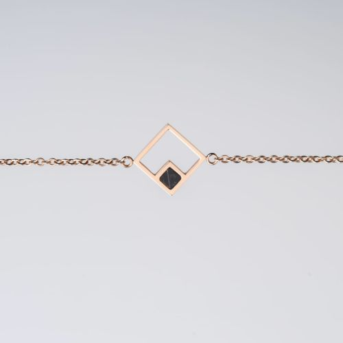 Geometric Bracelet (Marble/Rose Gold)