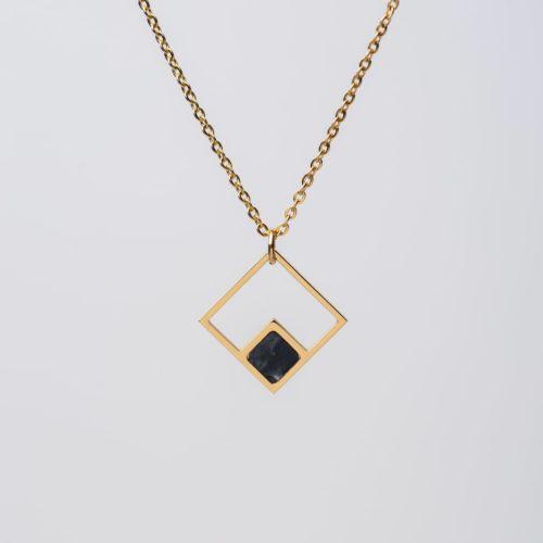 Geometric Necklace (Marble/Rose Gold)