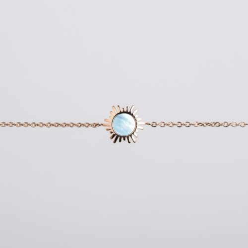 Shade Bracelet (Blue Nacre/Rose Gold)
